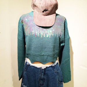 Spangle Short Knit / Green