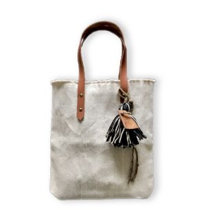 New !! cotton fringe totebag