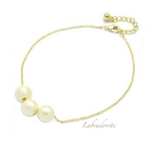 cp-07:cotton pearl Anklet