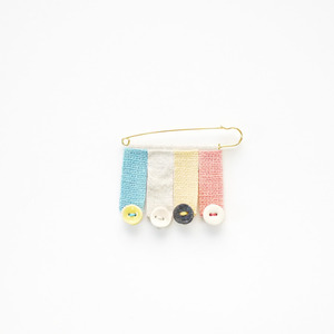 asaCorsage 〈Pin's Button〉Pastel