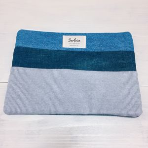 【6/17販売】Denim clutch bag R12(Gray)