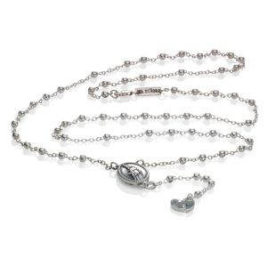 "EL SENOR ""WU""ROSARY - RHODIUM PLATED"