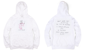 BUTTER GOODS PANTHER PULLOVER HOOD WHITE