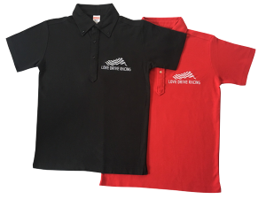 LOVE DRIVE RACING ポロシャツ BLACK/RED