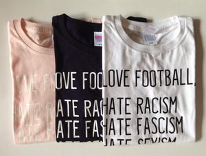 LOVE FOOTBALL, HATE... T-shirts (BABY PINK)