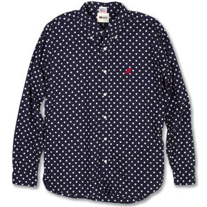 Red Fin Classic B.D-Shirts Navy Dot