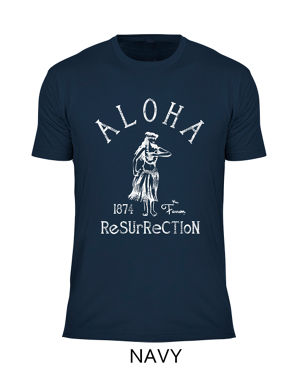 [MAN] ALOHA RESURRECTION TEE -NAVY-