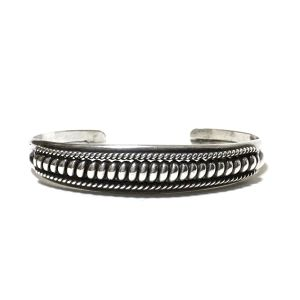 Navajo Sterling Silver Twisted Wire Bangle
