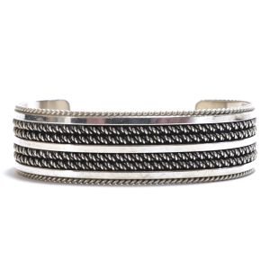Navajo Vintage Sterling Silver Twisted Wire Bangle