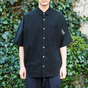 "SAY! / セイ!| 【 SALE!! 25%OFF 】 "" DOLMAN BIG SHIRTS "" - Black"