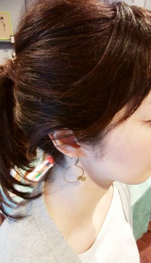 viva*viva jewel studio 京都 swingピアス* Flying butterfly Pierced Earring by viva*viva jewel studio Kyoto