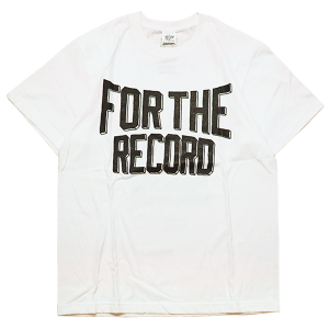 """""""For The Record Ruff Hand Edition"""" Tee White"""