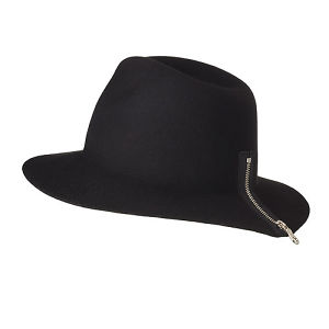 ZIPPER HAT/black