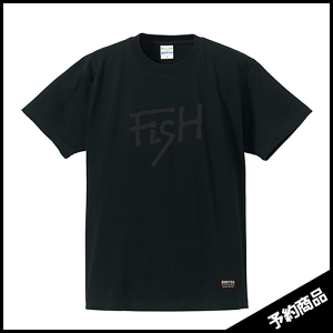 BURITSU FiSH Tee : Black×Black  7月中旬〜下旬入荷予定