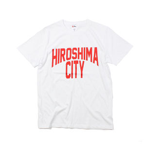 HIROSHIMA CITY Tシャツ WHITE×RED hsmct