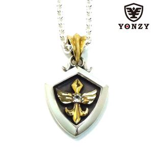 YONZY Phoenix Necklace Brass ホワイトトパーズ