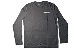 【SUMMER SALE!!】30%OFF!      MOLLUSK SURF      Olde Whale L/S Tee      (Faded Black)