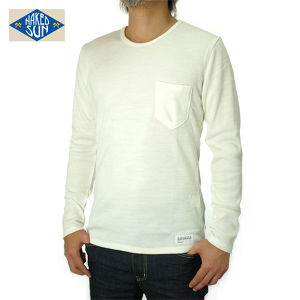 014005016(KNIT SEW C-NECK L/S )OFF-WHITE