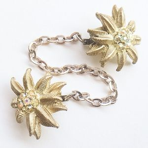 gold flower sweater clip[s-186]