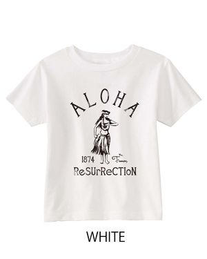 [KID] ALOHA RESURRECTION TEE WHITE