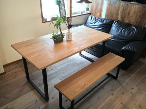 Oak Dining Table (square leg)