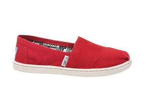 Canvas Youth TOMS Classics  ( Red  ) トムス キッズ