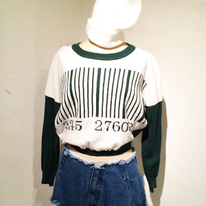 Barcode Short Knit / Green