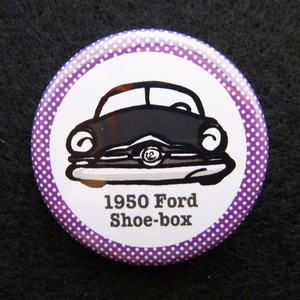 1950 Ford 2door sedan Shoebox 缶バッジ