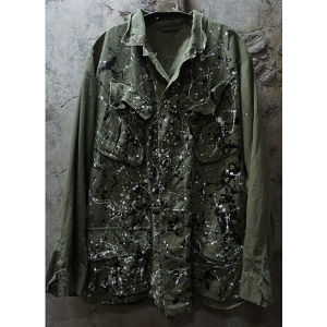 PAINTED U.S. ARMY FATIGUE JACKET
