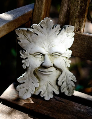 Garden Ornament Green Man Face Plaque【予約販売】