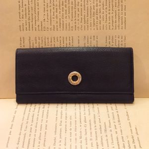 CELINE leather long wallet