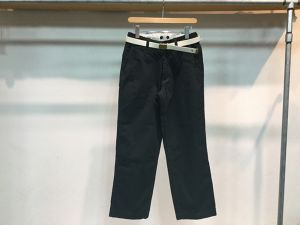 "MASTER&CO""WIDE CHINO PANTS BLACK"""