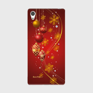 【Xperia Z5 Premium】Winter Holiday Gorgeous Red ウィンター・ホリデー ゴージャスレッド ツヤありハード型スマホケース