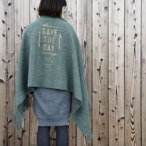 "SILENT POETS × minka MIRITARY BLANKET -ALPACA- ""SAVE THE DAY"""