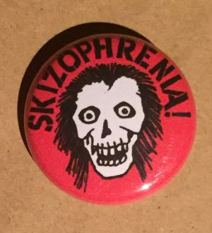 SKIZOPHRENIA - 25mm button(skz skull)