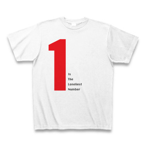 three dog night「One Is The Loneliest Number」タイポグラフィTシャツA