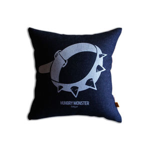 HUNGRY MONSTER Logo Cushion #A
