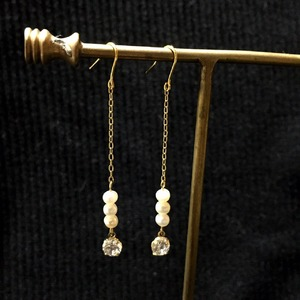 freshwater pearl drop pierce