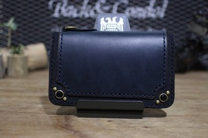 """CHROMEXCEL Wallet"" Midlle,Navy,Type1"