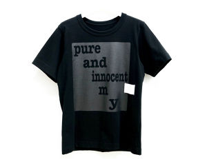 Paimy_17SS_Pure and innocent_Tシャツ/ブラック