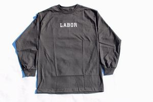 LABOR WORDMARK L/S TEE BLACK