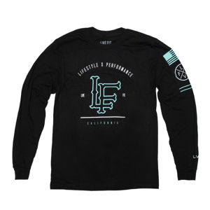 LIVE FIT California Long Sleeve- Black