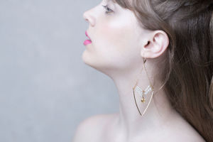 HIKARI Earrings | Citrine