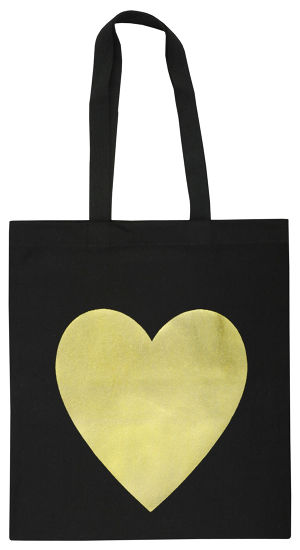 バッグ BLK  HEART GOLD