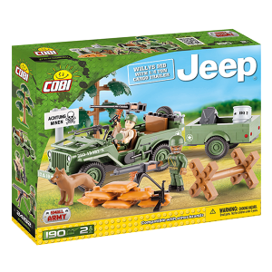 COBI #24192 ウィリス ジープ w/ 1/4トン トレーラー (Willys Jeep with 1/4ton trailer)