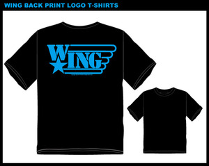 WING BACK PRINT LOGO T-SHIRTS BLUE