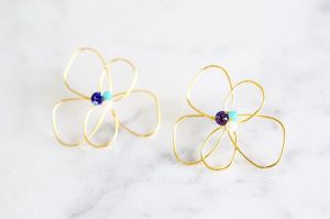 Elegant flower pierce*blue