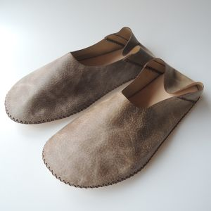 TOKYO Lether slippers HEIWA [Gray suède] Chrome-free