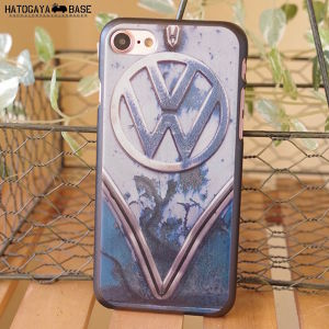 iPhone7/7Plus/SEケース RUSTY VW Early BUS BLUE