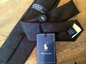 Ralph Lauren★【Tie】<WOOL >MADE IN ITALY